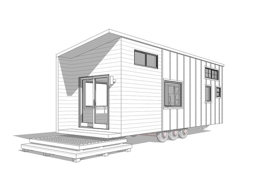 Toccoa- shed, modern, rustic